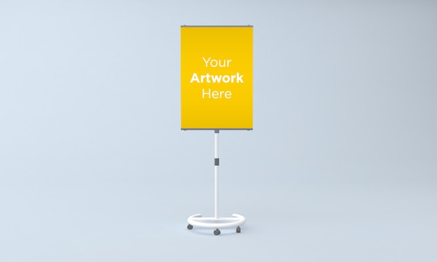 Металлический макет стойки для объявлений 3d визуализации