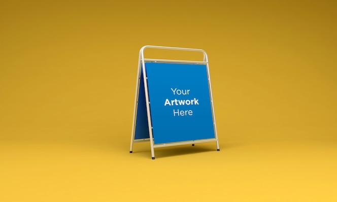 금속 게시판 스탠드 모형 3d 렌더링