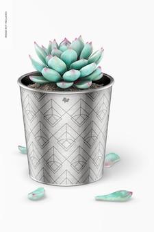 金属製植木鉢モックアップ