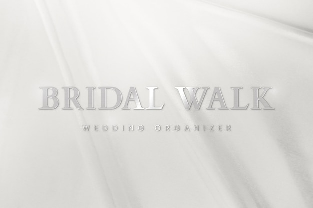 결혼식 주최자를 위한 금속 은색 로고 템플릿 psd