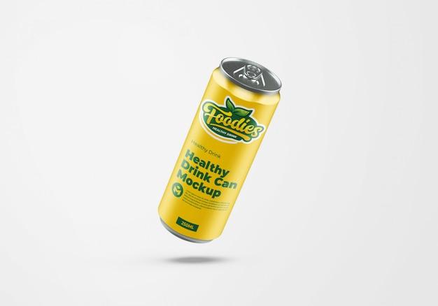 Металлический газированный напиток может дизайн макета