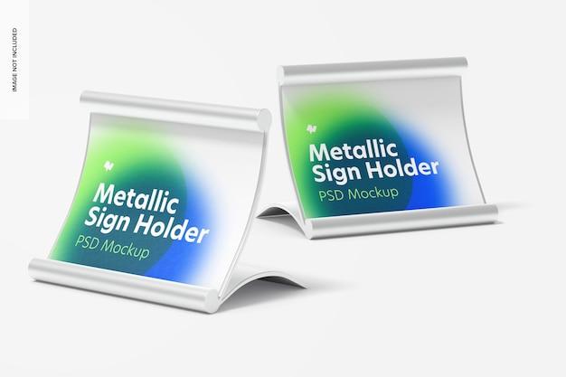 Металлические держатели таблички, макет, перспектива