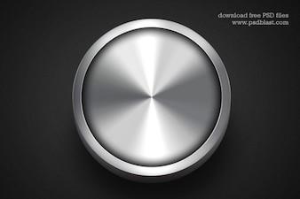 暗い背景に金属製のWebボタン