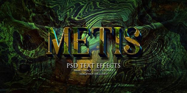 Metis text effect