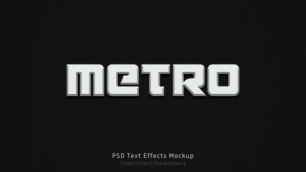 Metro 3d text effectsテンプレート