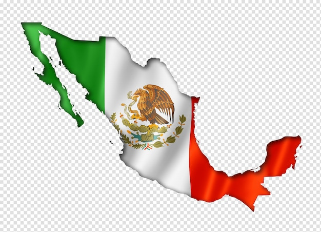 Mexican flag map