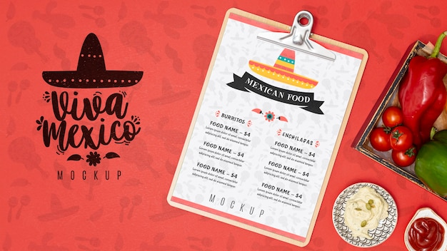 Mexican food concept mock-up