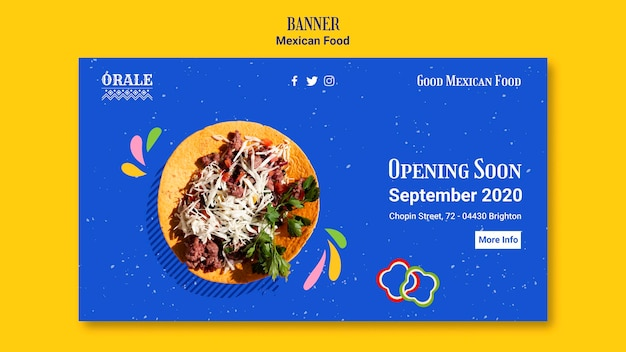 Шаблон баннера мексиканской кухни