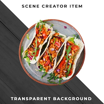 Mexican food transparent psd