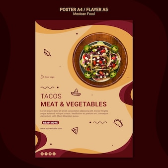 Mexican restaurant flyer template