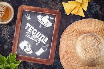 メキシコ料理レストランのモックアップ