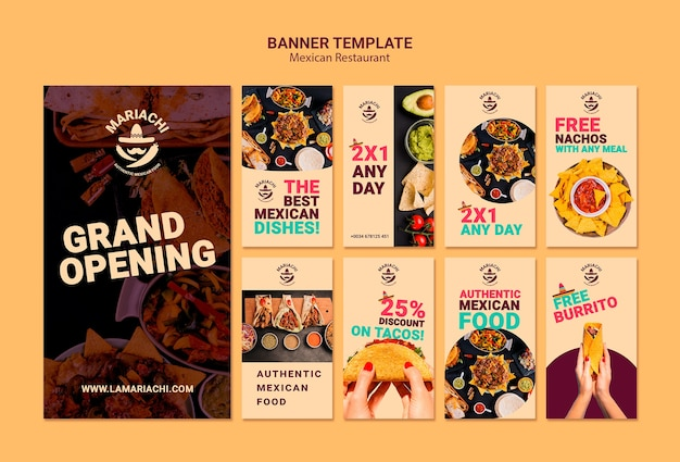 Mexican traditional dishes restaurant instagram stories