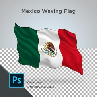 メキシコの旗の波のデザイン透明
