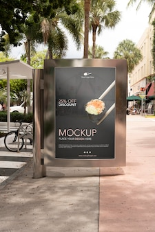 Mockup di cartelloni pubblicitari di miami