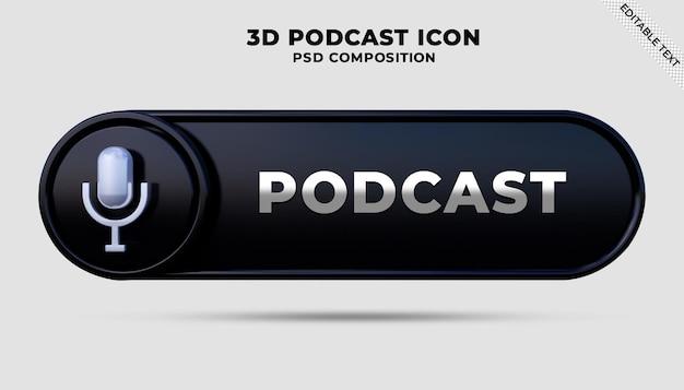 Microphone podcast bar 3d render
