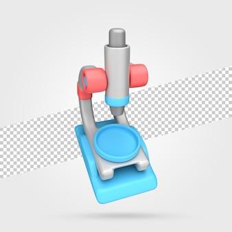 顕微鏡の3dレンダリング