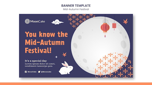 Mid-autumn festival banner template