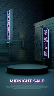 Полночная распродажа 3d реалистичный подиум промо-дисплей продукта