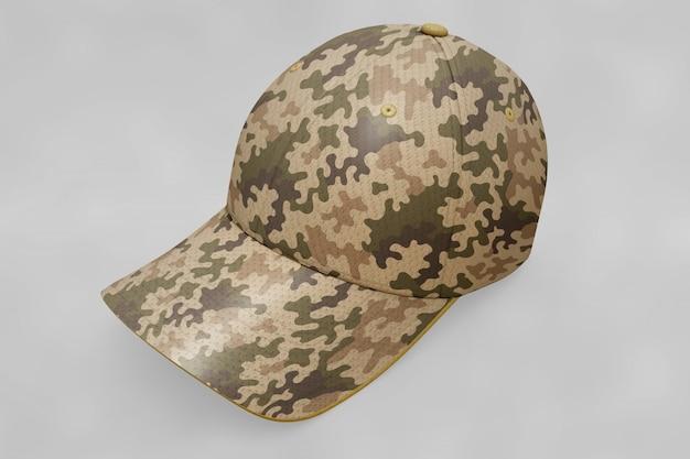 Military cap mockup