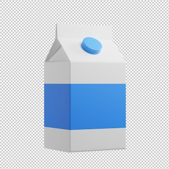 Milk 3d illustration