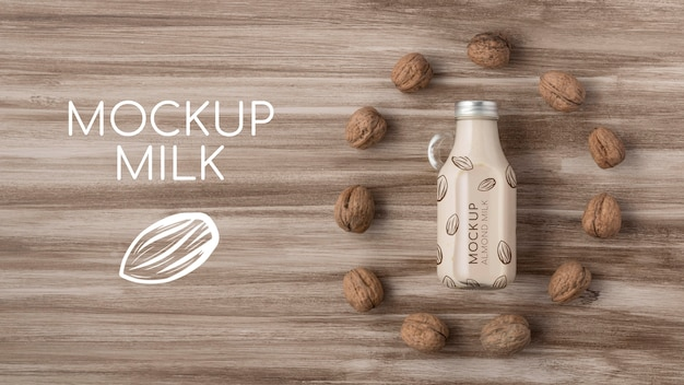 Milk bottle concept mock-up