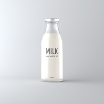 Milk bottle mock up