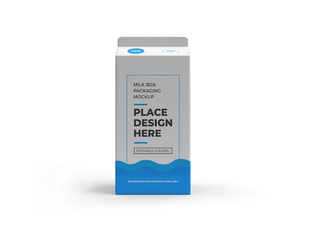 分離されたミルクボックスと飲み物のパッケージのモックアップデザイン