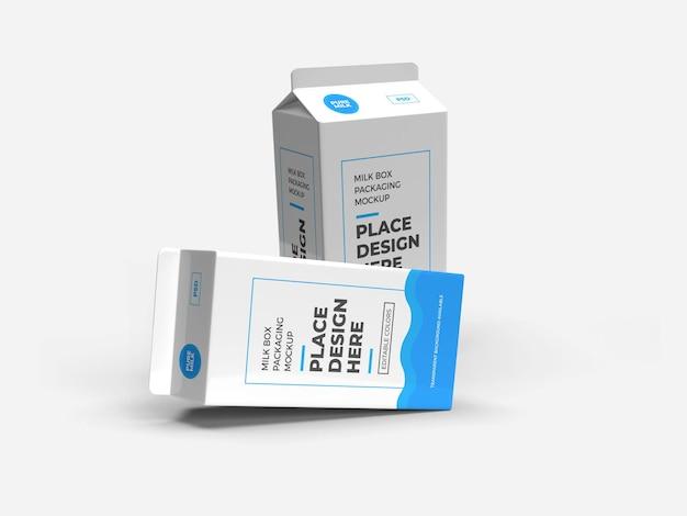 우유 상자 및 음료 포장 모형