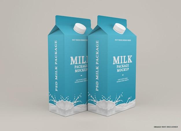 Milk box packaging mockup