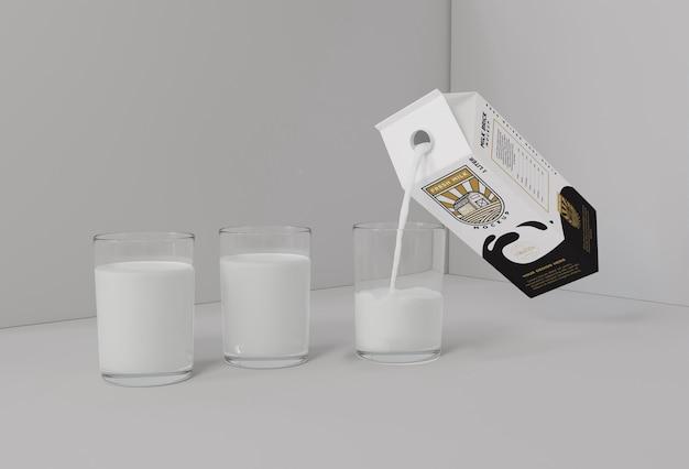 Milk brick mockup
