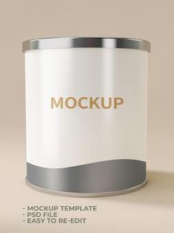 ミルク缶のモックアップ