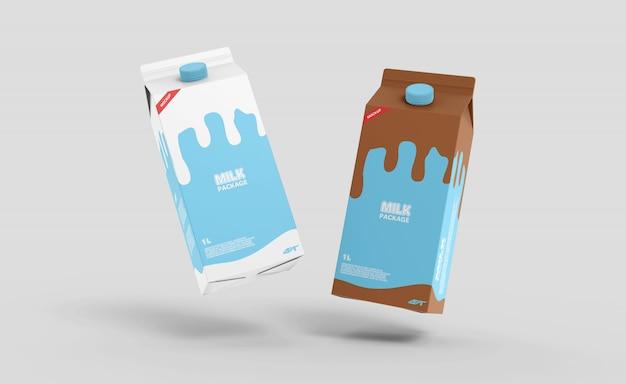 우유 판지 상자 모형