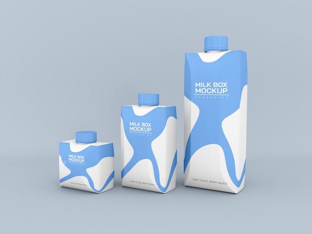 Макет упаковки для молока