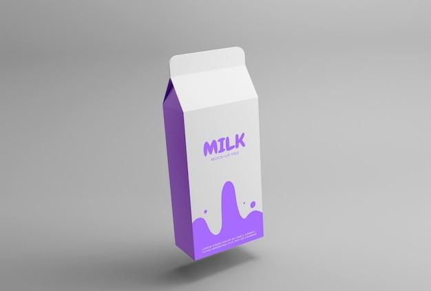 Молочная упаковка макет премиум psd