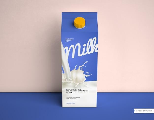 Макет упаковки молока