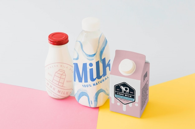 Milk packaging mockup