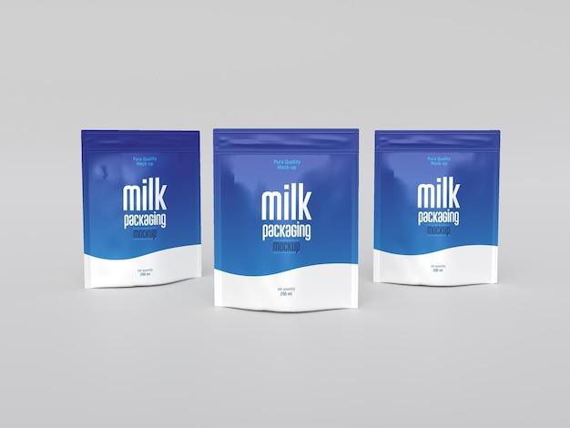 Мокап упаковки молока