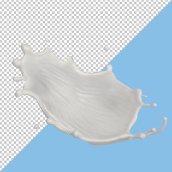 Всплеск молока изолированный жидкий пакет или всплеск йогурта