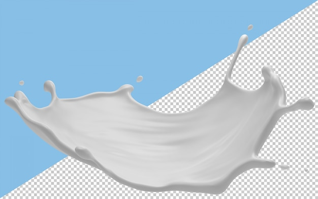 Milk splashes isolated