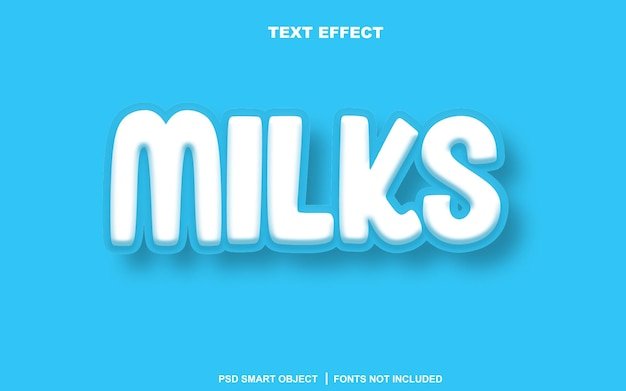 Молит текстовый эффект. редактируемый текстовый смарт-объект