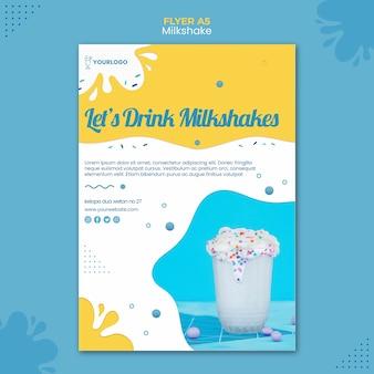Milkshake flyer template