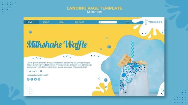 Milkshake landing page