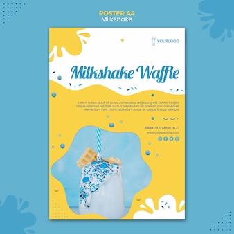Milkshake poster template