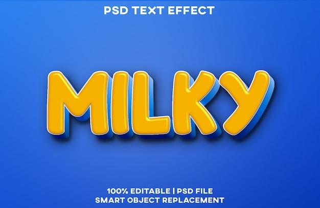 Шаблон стиля с эффектом молочного текста