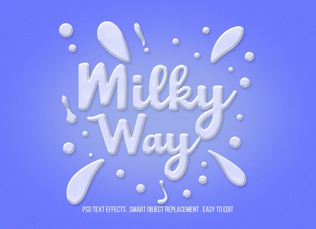 Milky way premium text effect