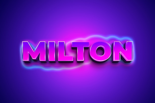 Milton 3d эффект стиля текста