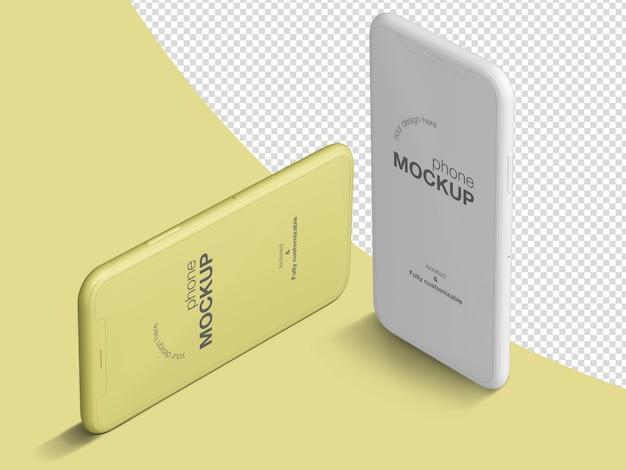 Шаблон макета mimimalistic изометрические телефоны