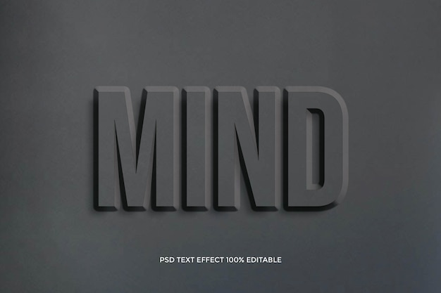 Mind  typography text effect design