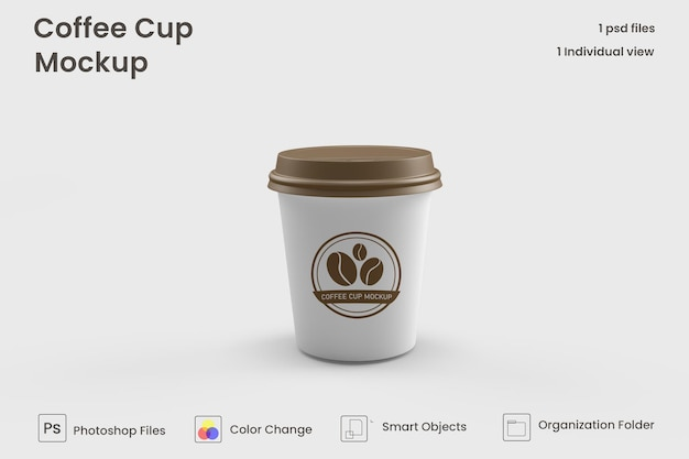 Mini coffee cup mockups premium psd