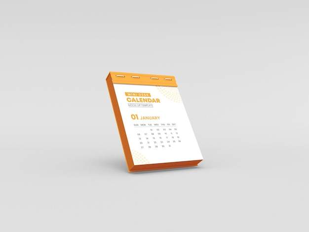 Мокап календаря для мини-стола